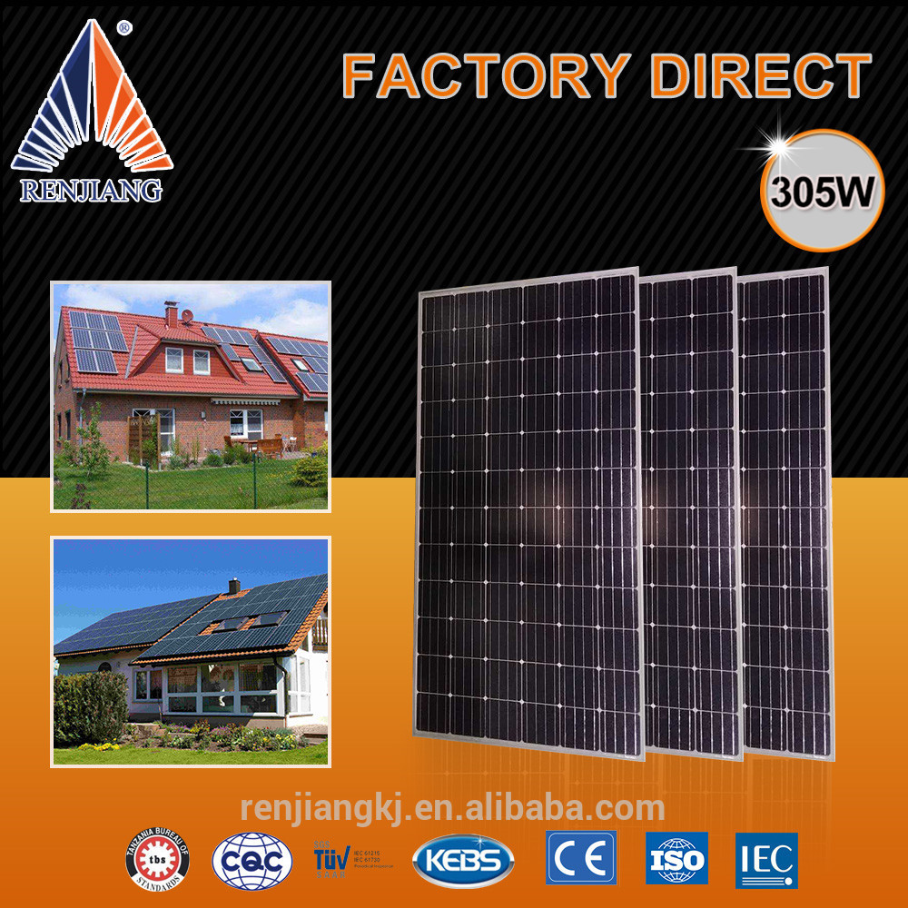 Better temperature coefficient solar power power station 500kw,solar panel 305W